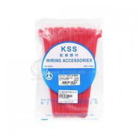 KSS MGT-210RD 黏扣式紮線帶(紅色) 20PCS/包 16*210mm