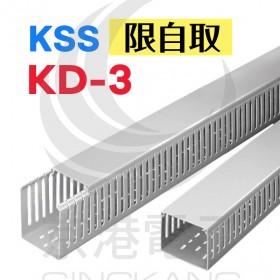 絕緣配線槽 KD-3 (灰色) 33*65mm 1.7M (出線孔6MM)