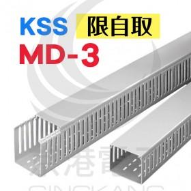 【不可超取】絕緣配線槽 MD-3 (灰色) 33*65mm 1.7M (出線孔8MM)