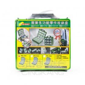 PR-299 耐衝擊高專業多功能零件收納盒 (小*18)