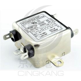 EMI FILTER YC-10T1L2π迴路 10A 電源濾波器 AC250V (插腳)