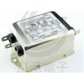 EMI FILTER YE-10T1L2 10A 250V雙π EMI電源濾波器(插腳)