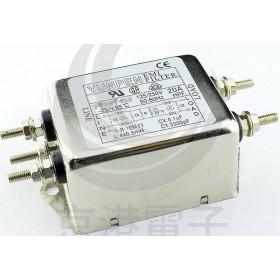 EMI FILTER YE-15T4L2 15A 250V雙π EMI電源濾波器(M4螺絲)