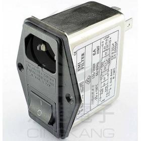 EMI FILTER YQ-04A1 4A 3P+FUSE座+SW 塞入式EMI電源濾波器