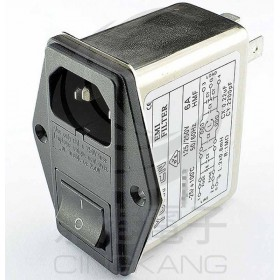 EMI FILTER YQ-10A1 10A 3P+FUSE座+SW塞入式EMI電源濾波器