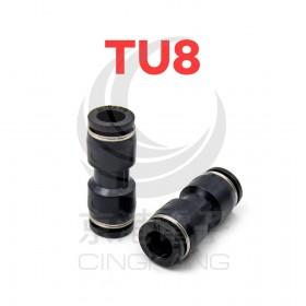 AIRTAC台製氣管接頭 TU8 一字型雙邊 8
