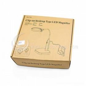 夾式桌上型2用LED放大鏡燈