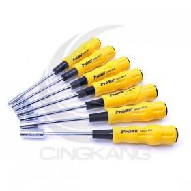 prosKit 寶工 1PK-9402 黃黑軟柄套筒起子組(7支組)