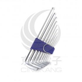 EIGHT白金超長型六角扳手 1.5 -10 mm (9支/組) BHS-9