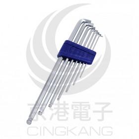 EIGHT特短球型六角扳手1.5-6mm (7支/組) TTS-7