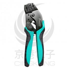 prosKit 寶工 CP-751C 7.5吋接續裸端子棘輪壓著鉗
