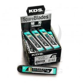 日本KDS 黑鋼刀片15段中型美工刀片 W刃 18mm LB-10BWZ 一盒10片