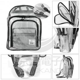 無塵室工具後背包 背帶包覆式 420 x 300 x 100mm透明網狀