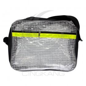 無塵室透明網狀工具袋-綠反光 (加大) 410*310*100mm