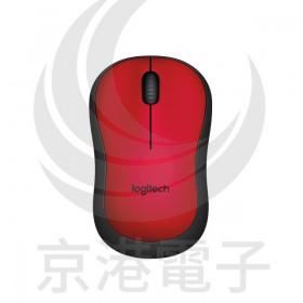 Logitech 羅技 M221 無線靜音滑鼠-紅色