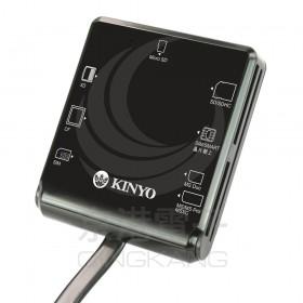 KINYO 多合一7插槽晶片讀卡機 KCR-359