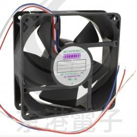 120*120*38 24VDC(1570-1074-ND)MECHATRONICS (出3線)塑膠滾珠