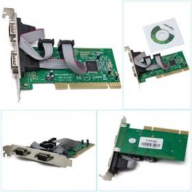 伽利略 PCI TO RS232 2 PORT 擴充卡 全雙工9865晶片PTR02B
