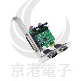 伽利略 PCI-E 2 PORT RS232+1PORT Print 擴充卡 PETRP02A
