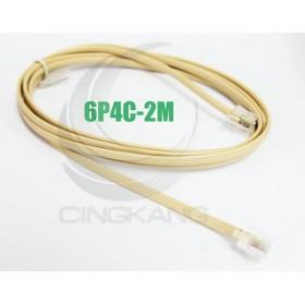 6P4C 雙頭 2M 電話線(6P4C-2M)