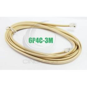 6P4C 雙頭 3M 電話線(6P4C-3M)