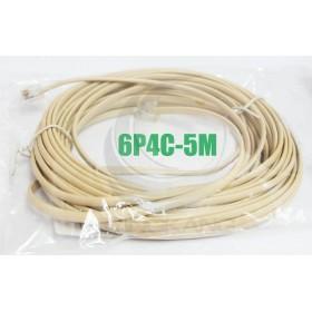6P4C 雙頭 5M 電話線(6P4C-5M)