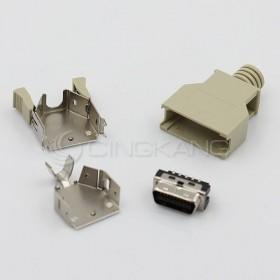 20P公 塑膠殼 SCSI 連接器