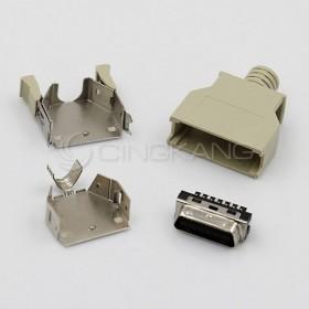 26P公 塑膠殼 SCSI 連接器