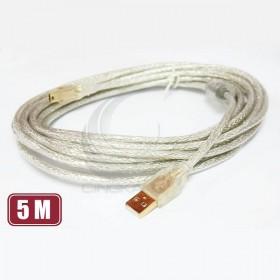 USB A公-迷你5PIN鍍金透明傳輸線5M(UB-226)