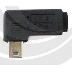 USB Mini公轉Mini母右彎90度轉接頭 (USG-63)