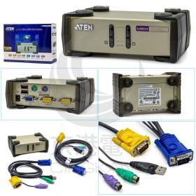 KVM CS82U 2埠 USB+PS/2 雙介面KVM多電腦切換器