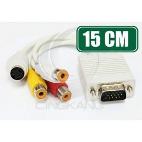 3排15公+S母端子/3RCA母15CM (VD-105)