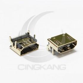 HDMI 鍍鎳連接母座 SMD 180度