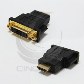 HDG-5 HDMI公-DVI-I 29母轉接頭