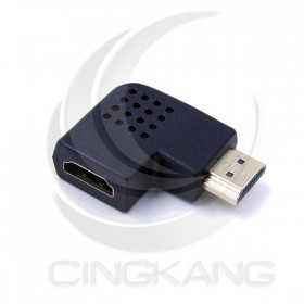 HDMI轉接頭 (鍍金) 公轉母 向左側面90度
