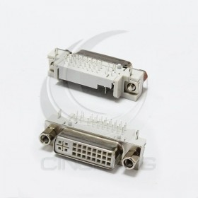 DVI24+5P 視頻插座90度彎針焊板座
