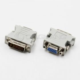 DVI 24+5 公轉 VGA15母 轉接頭