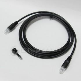 數位光纖萬用音源傳輸線 4.0mmq黑色 2M 外型是圓