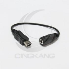 3.5立體母-迷你5PIN耳機線 10CM(VD-102)