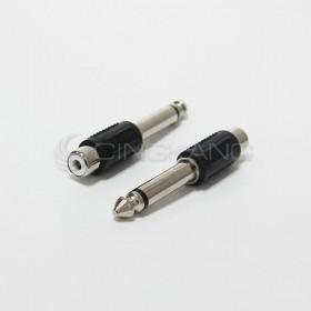 6.3單音插頭對RCA母座(鍍鎳)