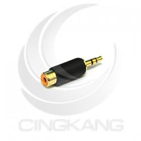 3.5立體插頭對RCA母座(鍍金)
