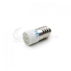 E10 LED 18V 多點式 高亮度 1芯 白色
