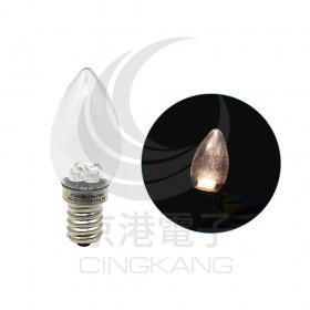 E12頭 0.5W*4 LED 暖白光 AC110V