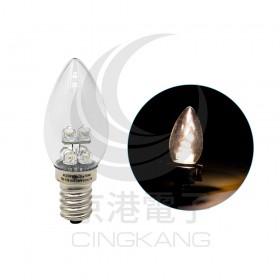 E12頭 0.5W*6 LED 暖白光 AC110V