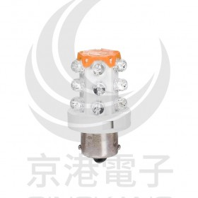 S15-L57O BA15S LED指示燈泡(AC/DC24V) 10W 橙色 50mm