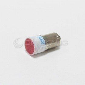 BA9S LED燈 220V- 紅色