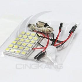 5050白光 DC12V 24晶(附BA9S、T10、彈簧雙尖座)