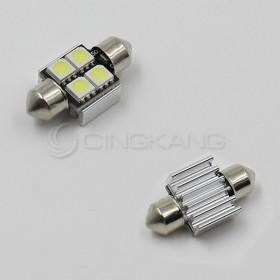 5050(白光)雙尖頭含散熱片 31mm LED 4晶 DC12V