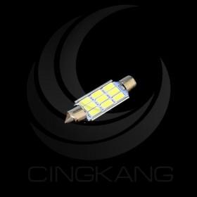 5630白光 雙尖頭 39mm LED 9晶 DC12V 解碼(無極性)