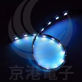 5050-12V黑底防水燈條七彩RGB 30CM(18燈)